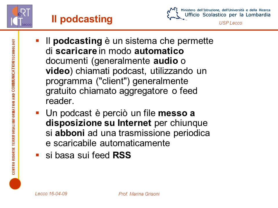 Il podcasting