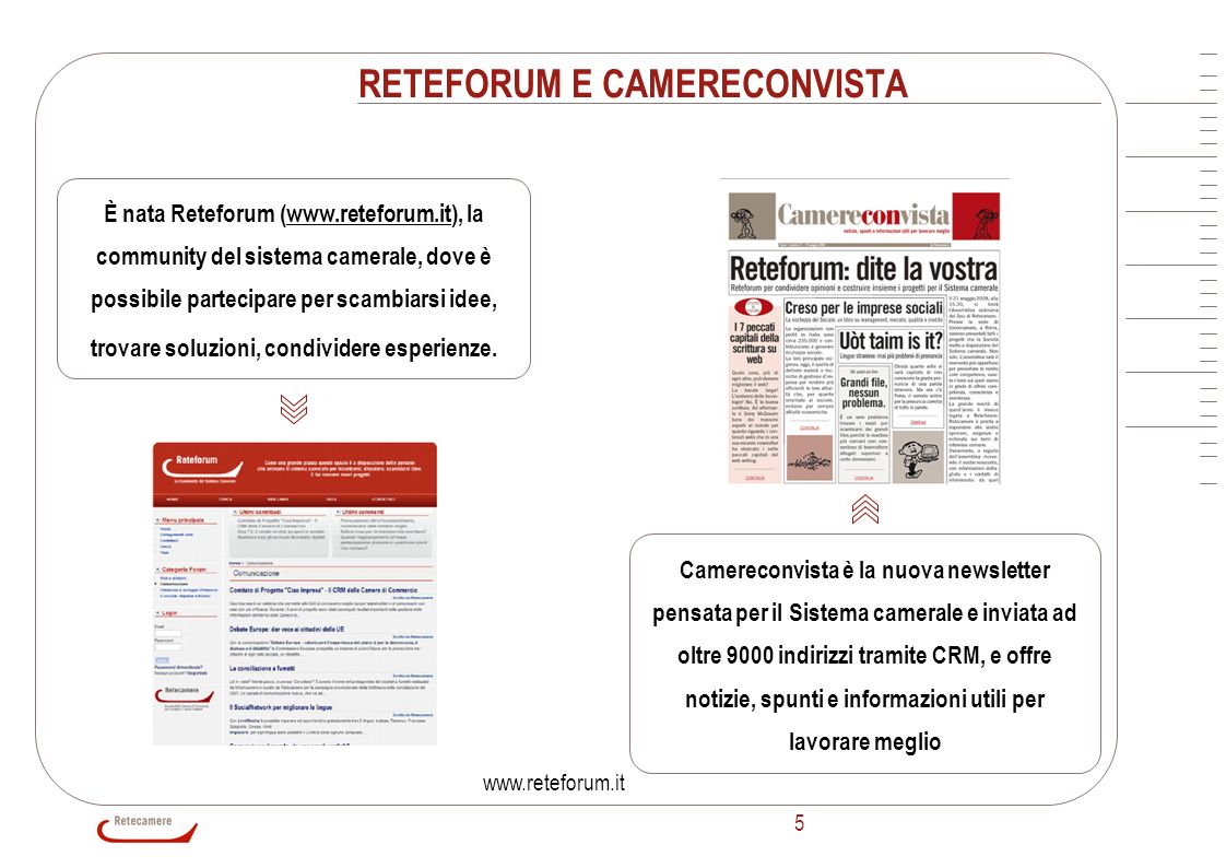 RETEFORUM E CAMERECONVISTA