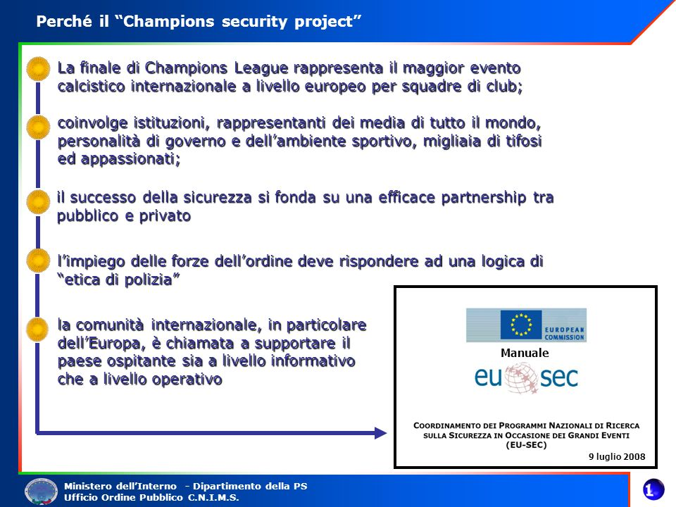 Perché il Champions security project
