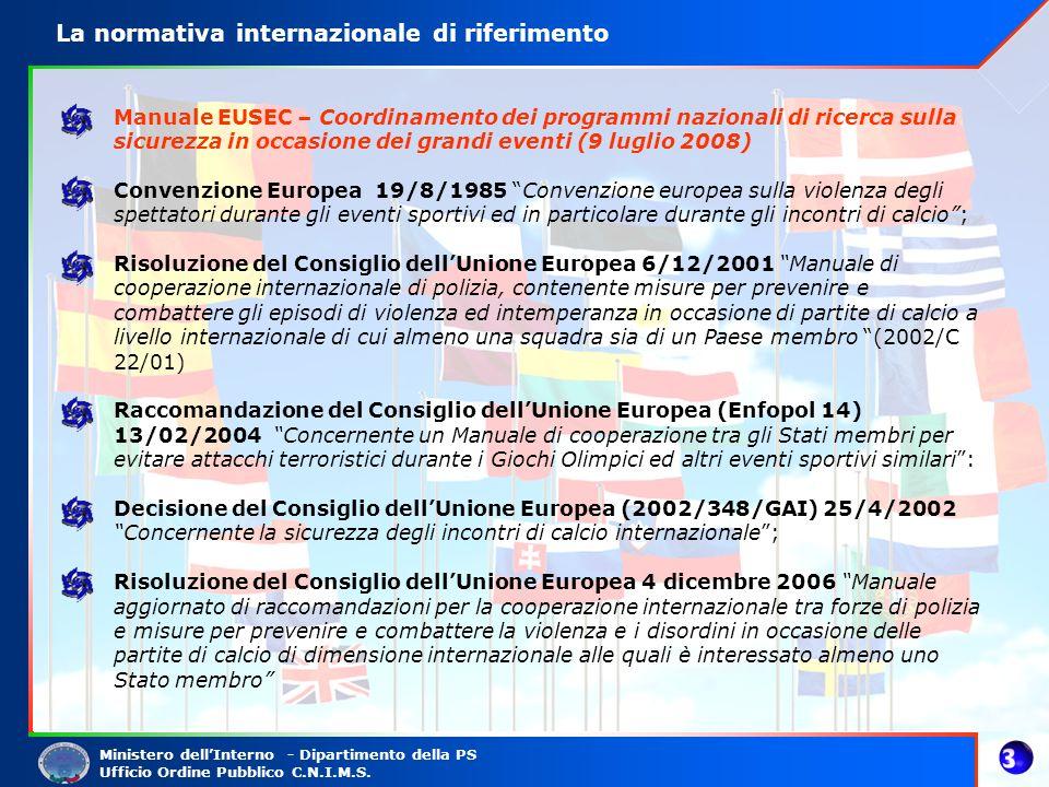 La normativa internazionale di riferimento