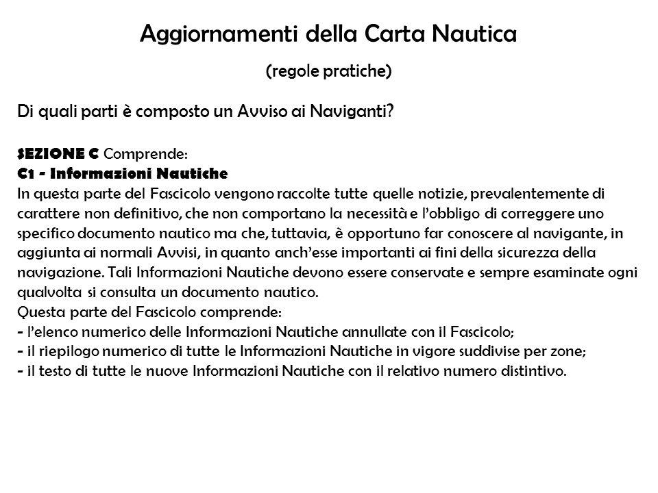 Aggiornamenti della Carta Nautica