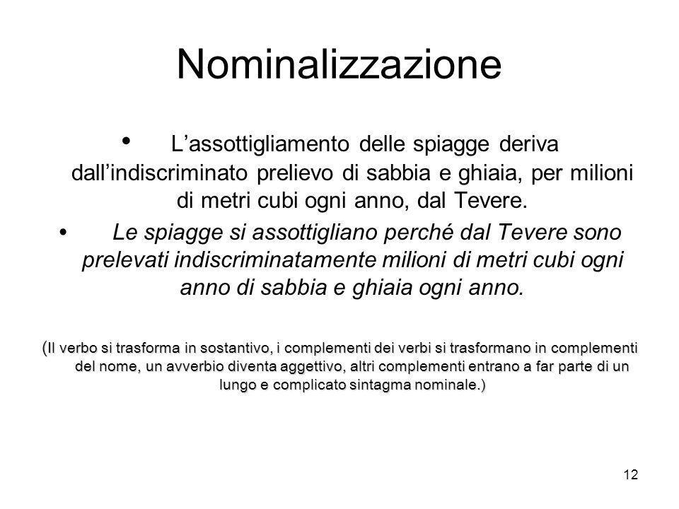 Nominalizzazione