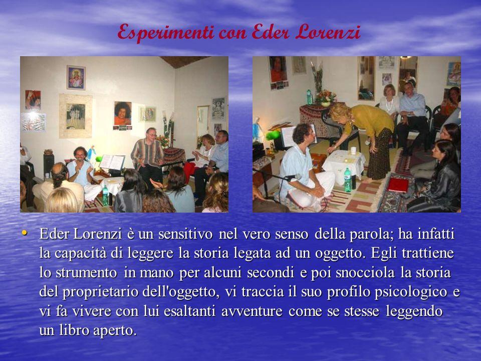 Esperimenti con Eder Lorenzi
