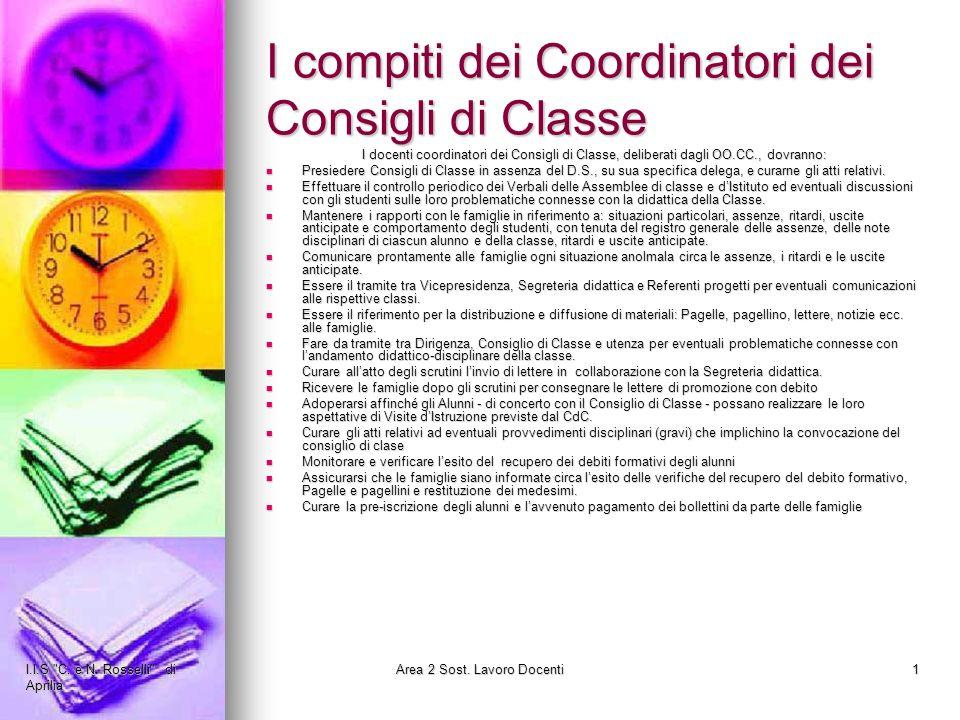 I compiti dei Coordinatori dei Consigli di Classe