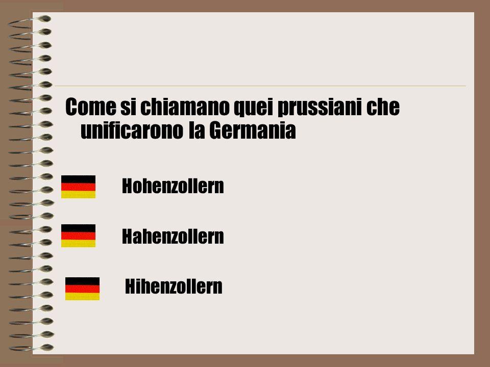 Come si chiamano quei prussiani che unificarono la Germania