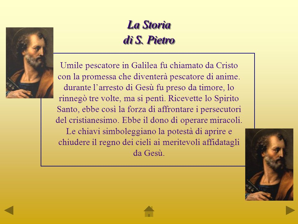 La Storia di S. Pietro.