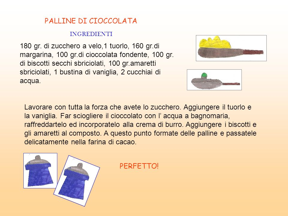 PALLINE DI CIOCCOLATA INGREDIENTI.