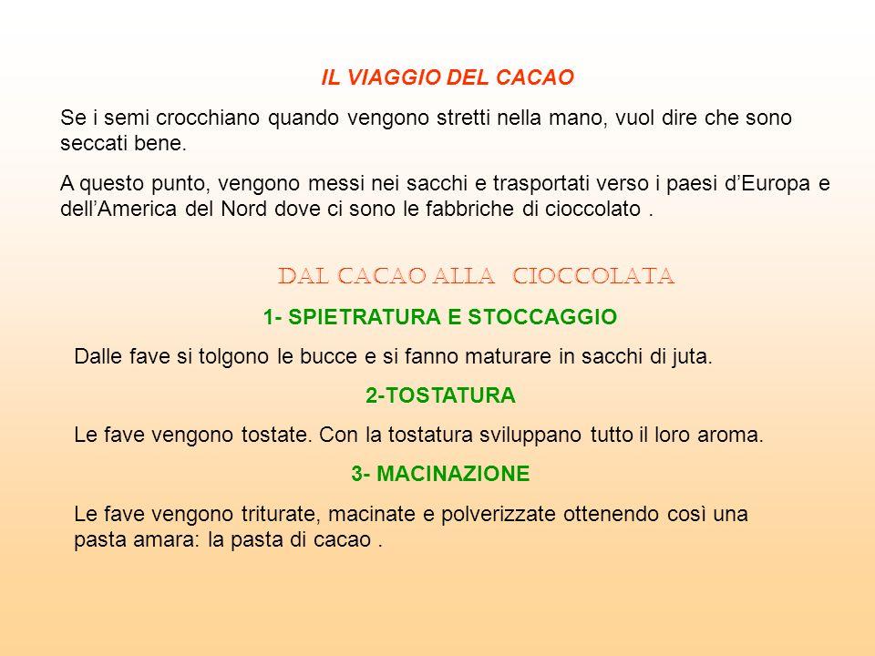 1- SPIETRATURA E STOCCAGGIO