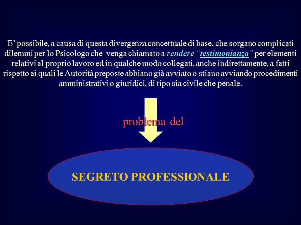 SEGRETO PROFESSIONALE