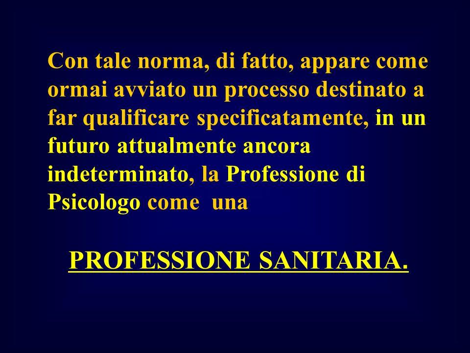 PROFESSIONE SANITARIA.