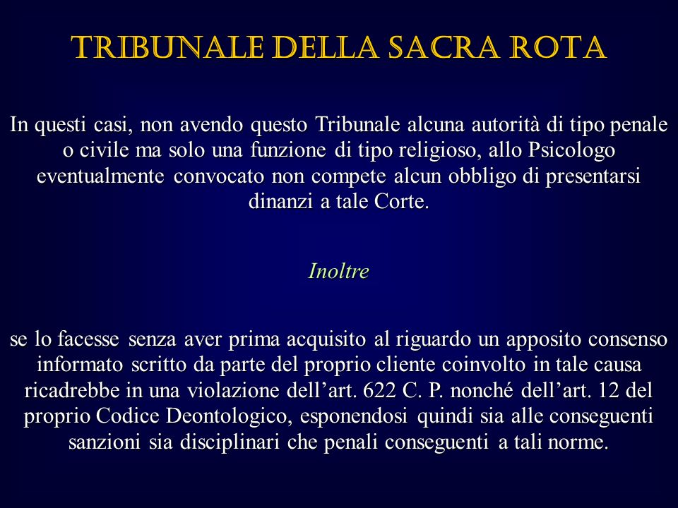 TRIBUNALE DELLA SACRA ROTA