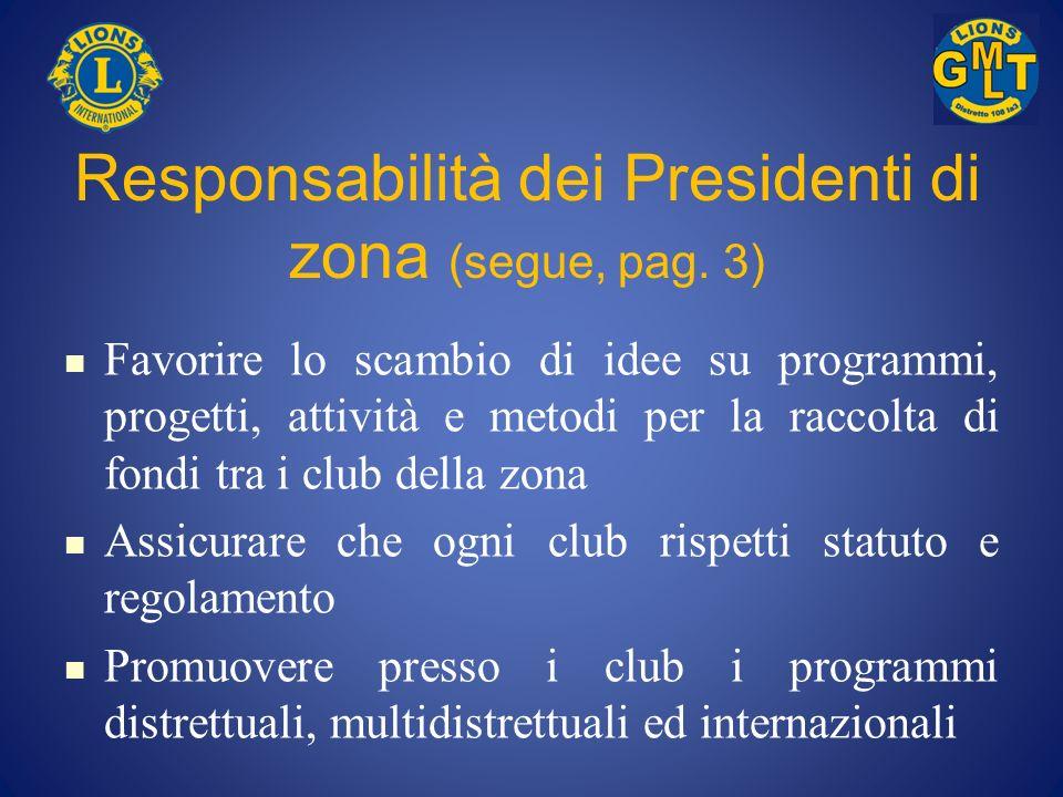 Responsabilità dei Presidenti di zona (segue, pag. 3)