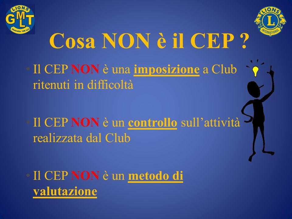 Cosa NON è il CEP Il CEP NON è una imposizione a Club ritenuti in difficoltà. Il CEP NON è un controllo sull'attività realizzata dal Club.