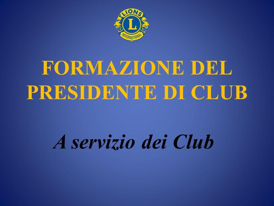 FORMAZIONE DEL PRESIDENTE DI CLUB