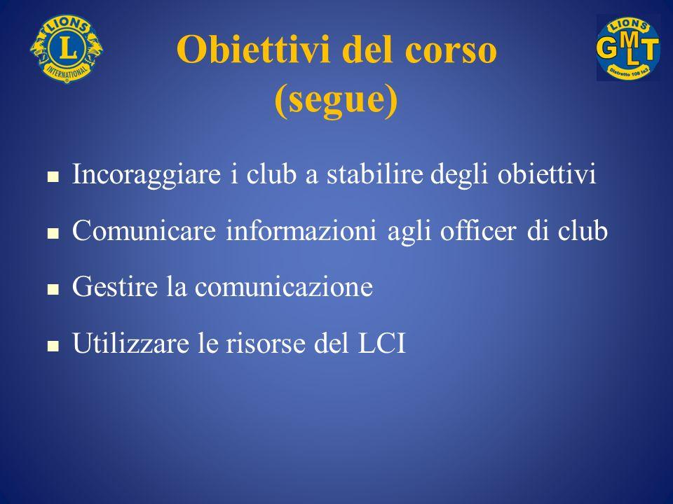 Obiettivi del corso (segue)