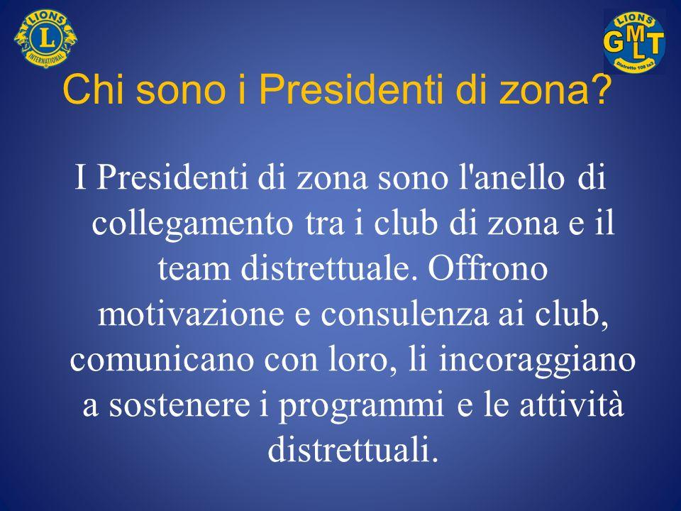 Chi sono i Presidenti di zona