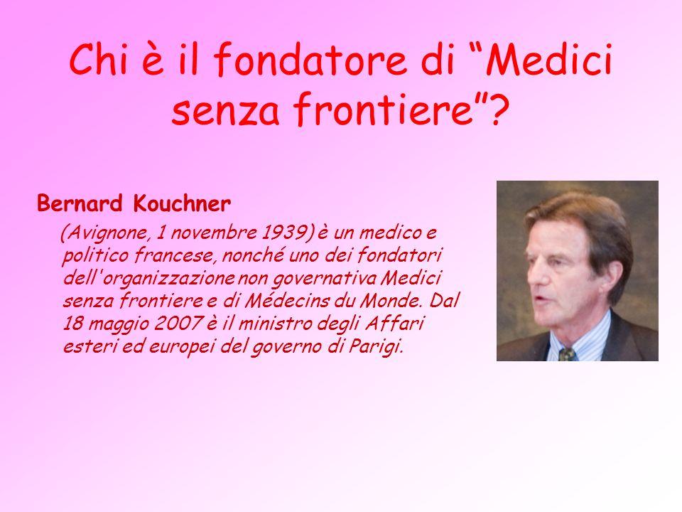 Chi è il fondatore di Medici senza frontiere