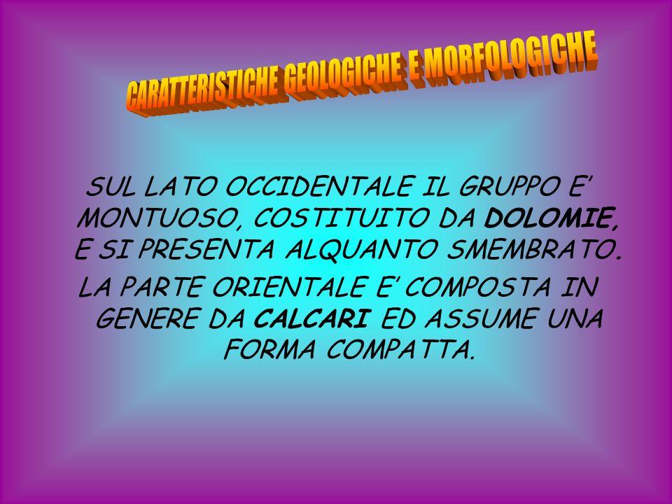 CARATTERISTICHE GEOLOGICHE E MORFOLOGICHE