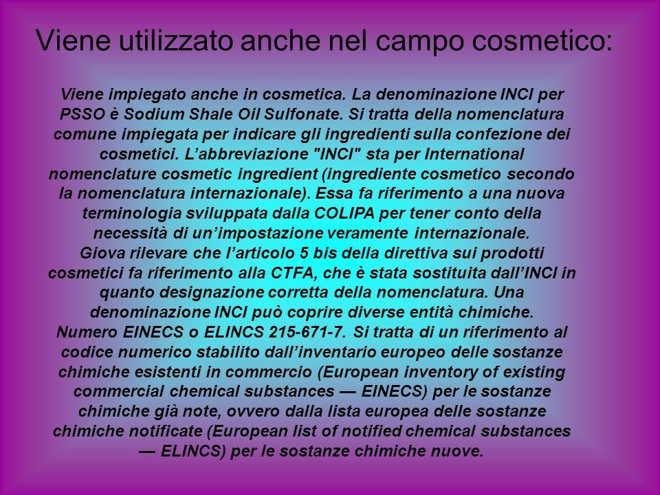Viene utilizzato anche nel campo cosmetico: