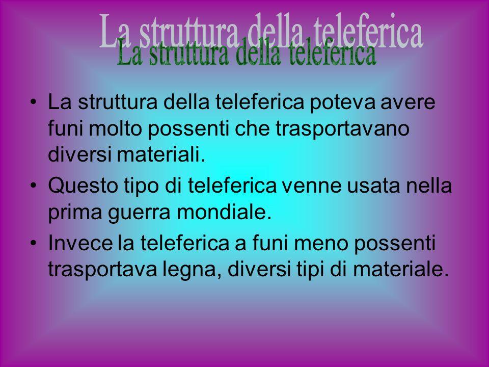 La struttura della teleferica