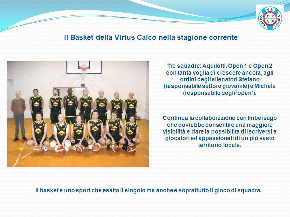 Il Basket della Virtus Calco nella stagione corrente