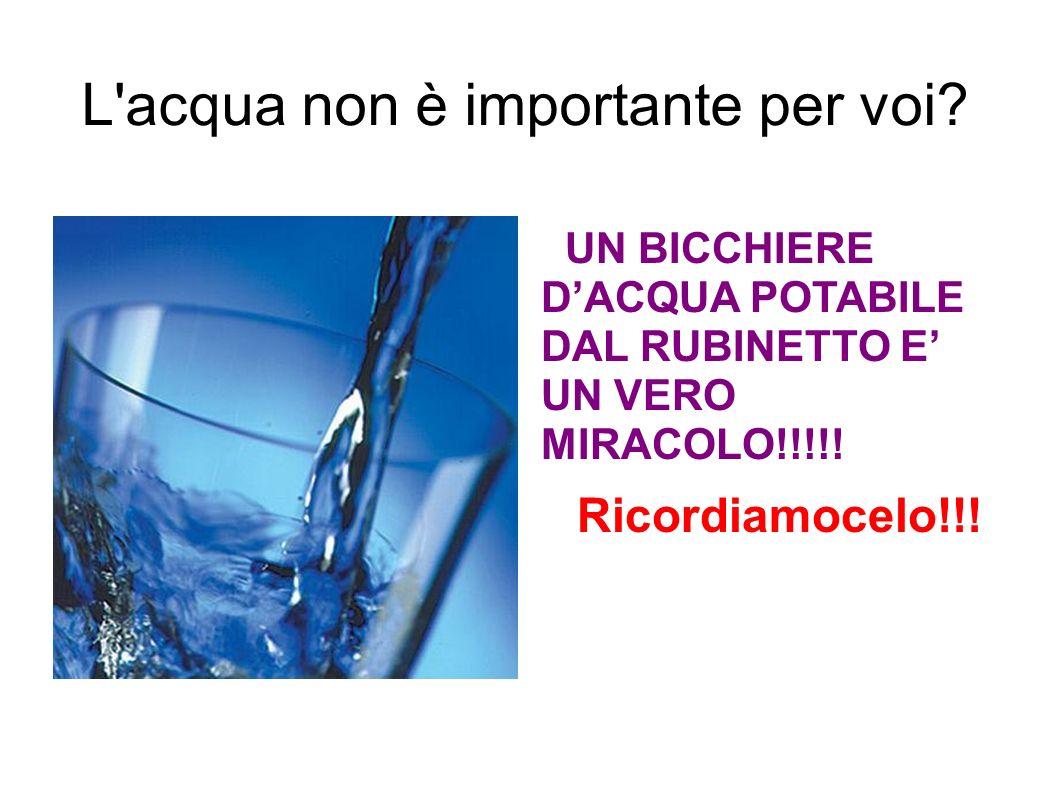 L acqua non è importante per voi