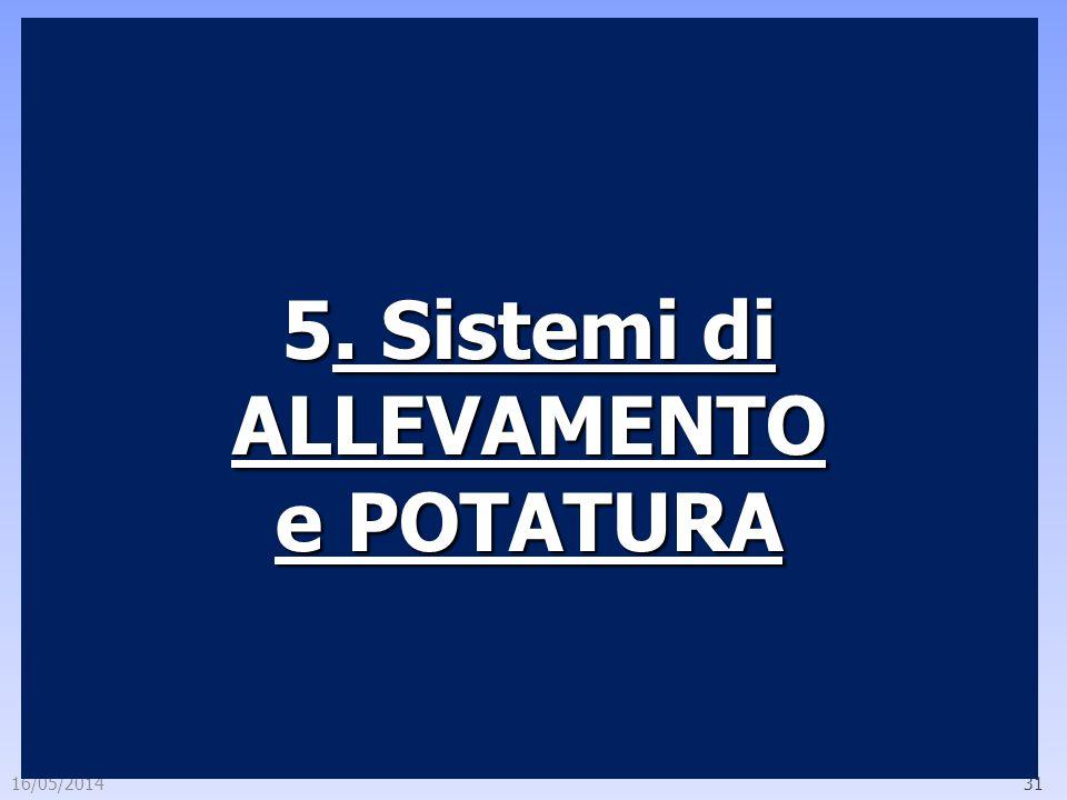 5. Sistemi di ALLEVAMENTO e POTATURA