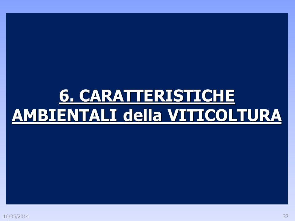 6. CARATTERISTICHE AMBIENTALI della VITICOLTURA