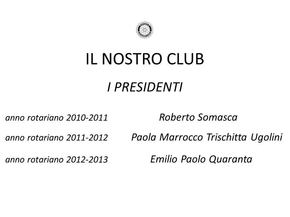 IL NOSTRO CLUB I PRESIDENTI anno rotariano 2010-2011 Roberto Somasca