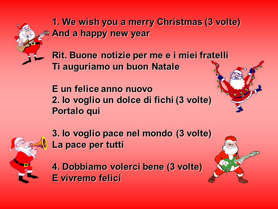 1. We wish you a merry Christmas (3 volte)