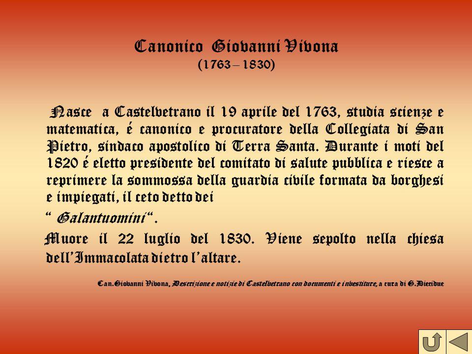 Canonico Giovanni Vivona (1763 – 1830)