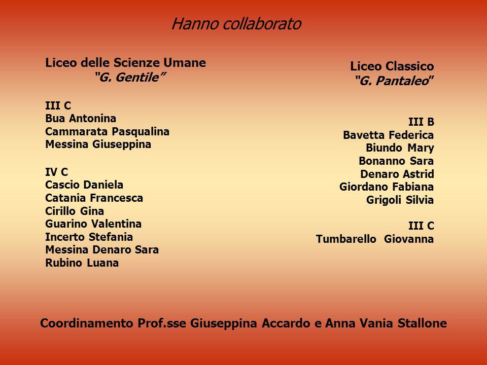 Coordinamento Prof.sse Giuseppina Accardo e Anna Vania Stallone