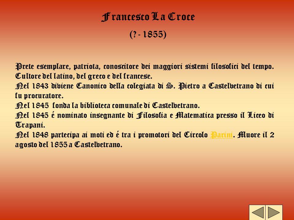 Francesco La Croce ( - 1855)
