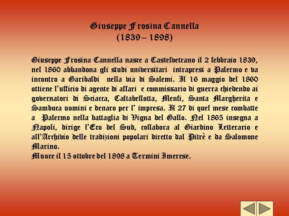 Giuseppe Frosina Cannella (1839 – 1898)