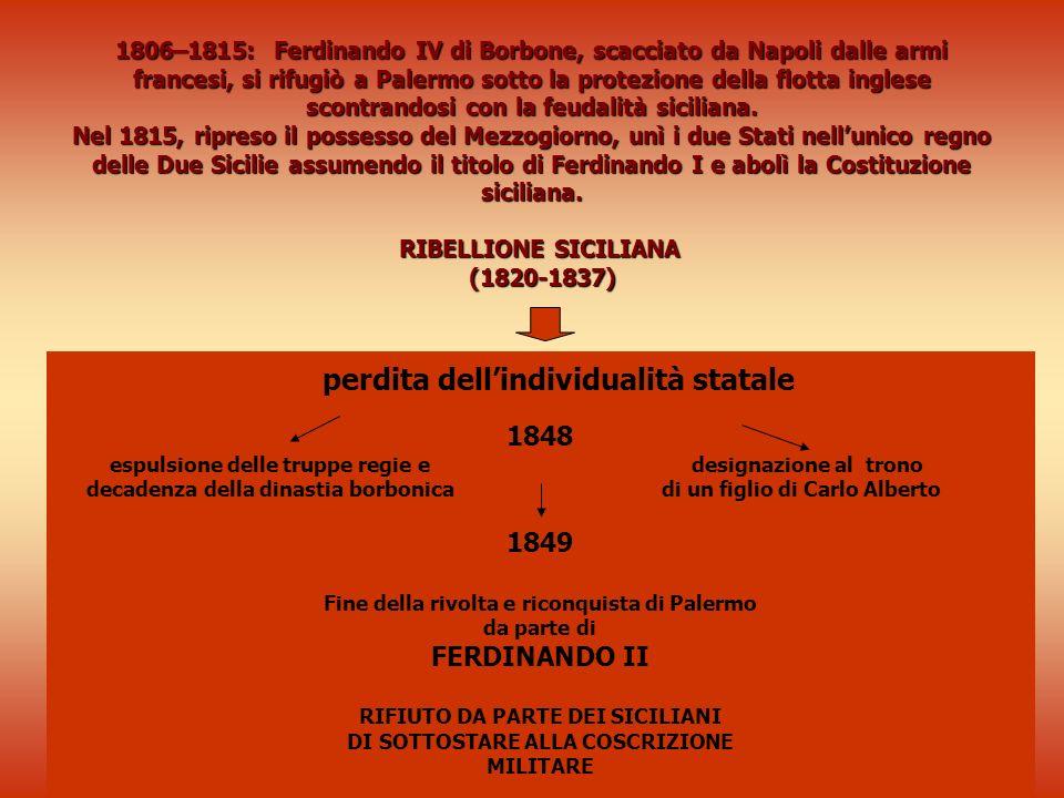 perdita dell'individualità statale 1848