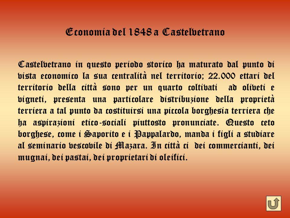 Economia del 1848 a Castelvetrano