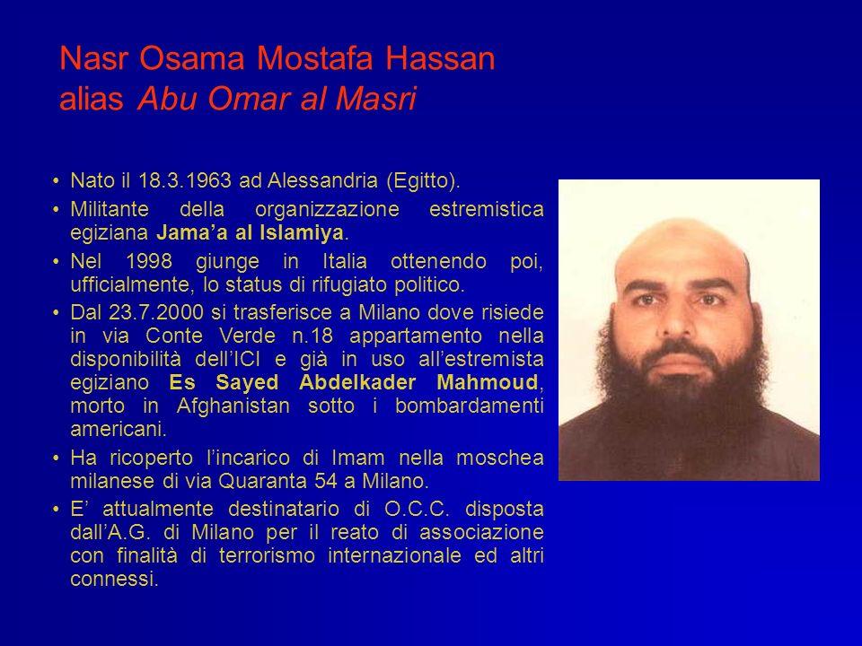 Nasr Osama Mostafa Hassan alias Abu Omar al Masri