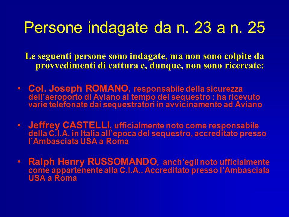 Persone indagate da n. 23 a n. 25