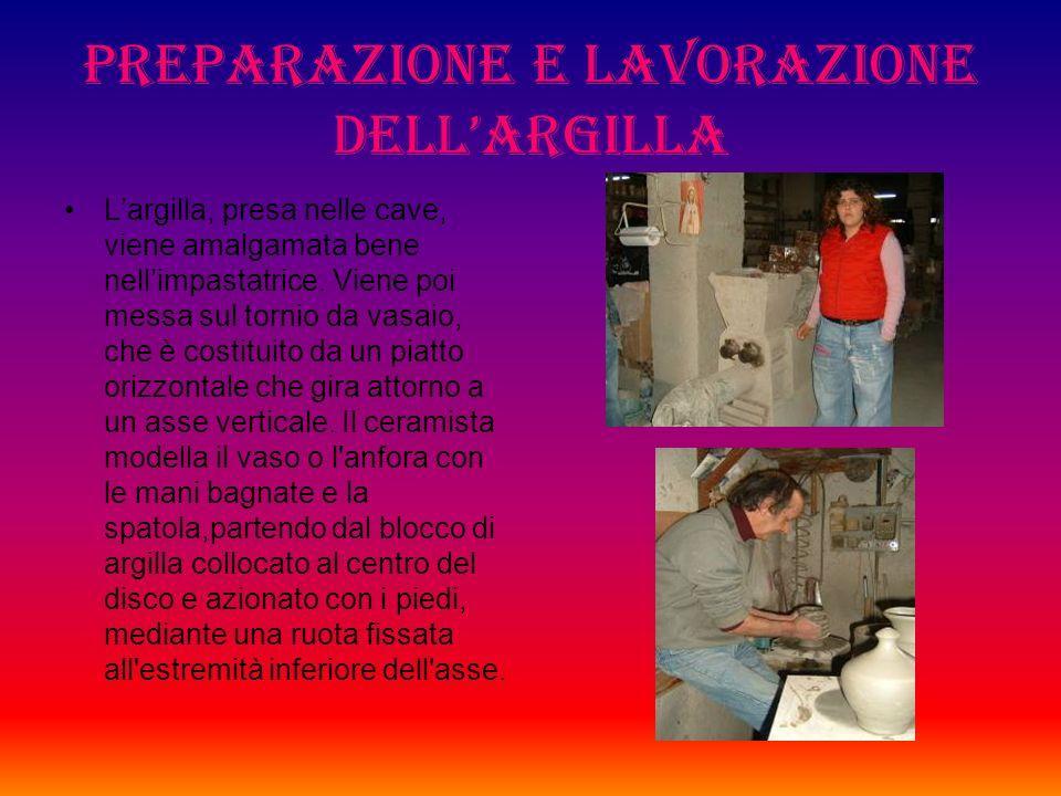 Preparazione e lavorazione dell'argilla