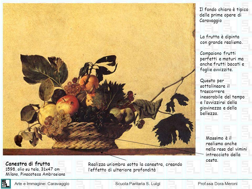 Il fondo chiaro è tipico delle prime opere di Caravaggio