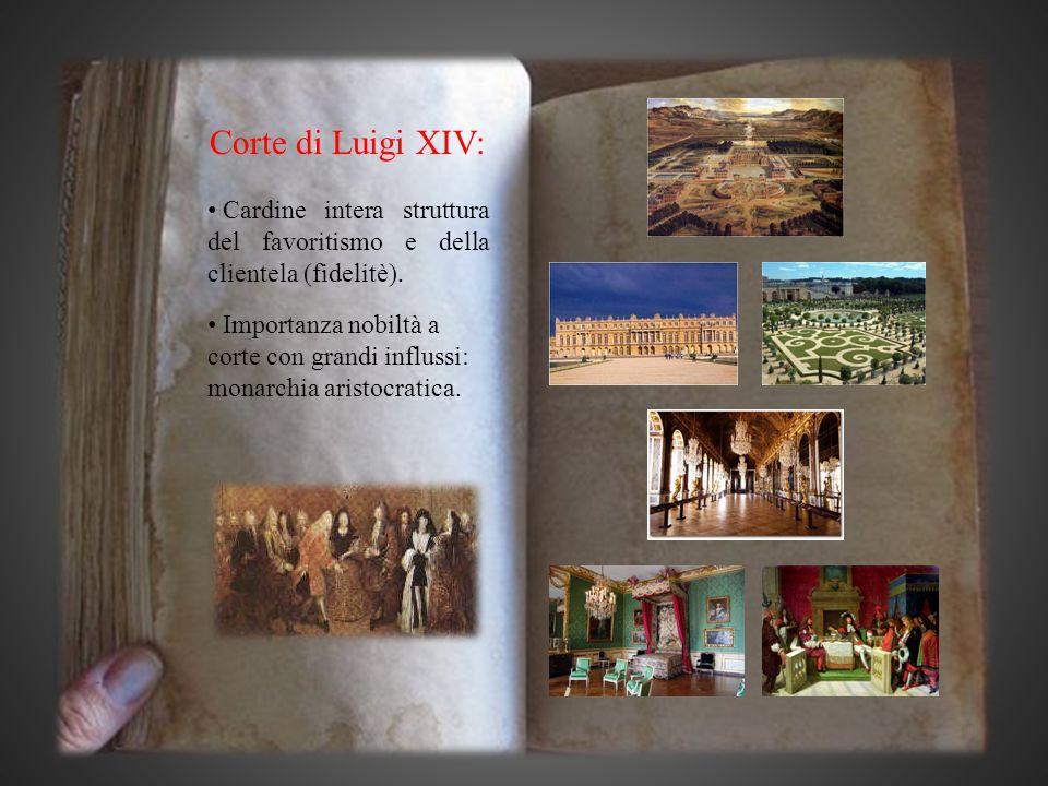 Corte di Luigi XIV: Cardine intera struttura del favoritismo e della clientela (fidelitè).