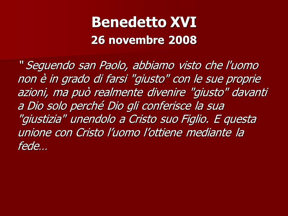 Benedetto XVI 26 novembre 2008