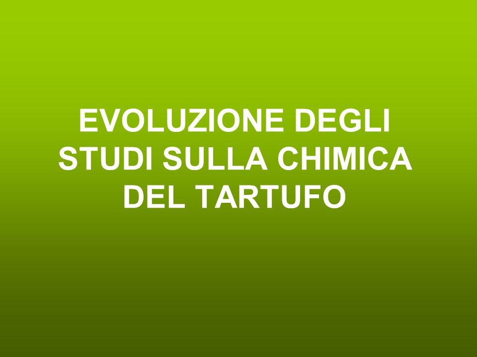 EVOLUZIONE DEGLI STUDI SULLA CHIMICA DEL TARTUFO