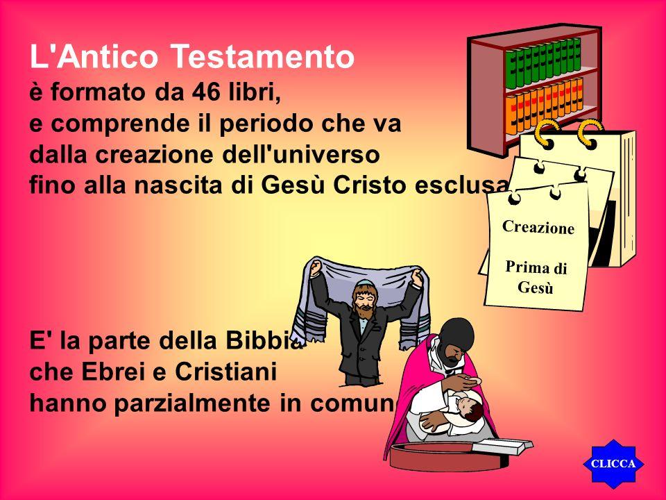 L Antico Testamento è formato da 46 libri,