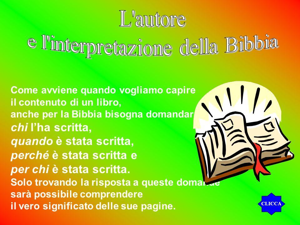 e l interpretazione della Bibbia