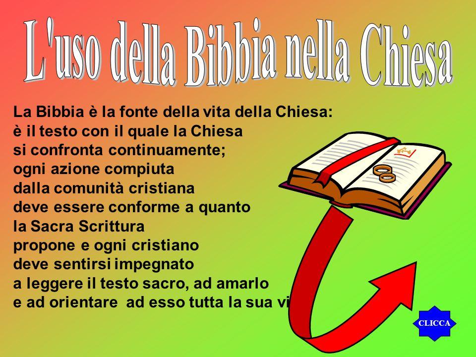 L uso della Bibbia nella Chiesa