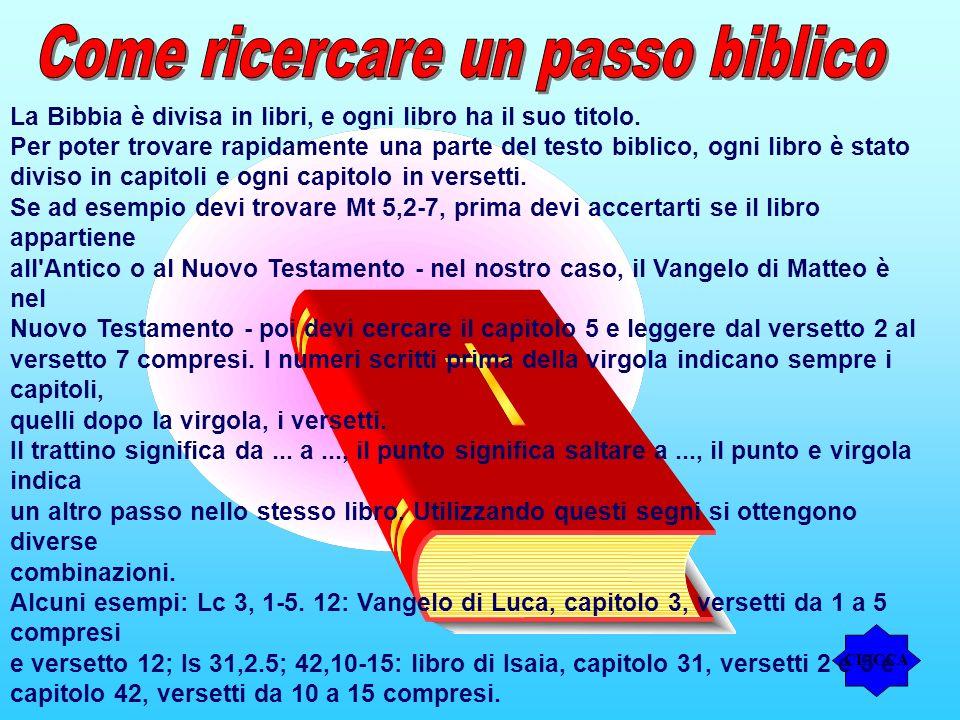 Come ricercare un passo biblico