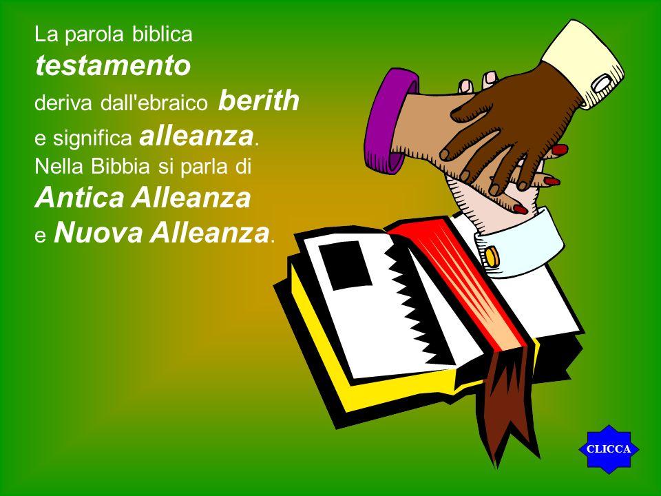 testamento Antica Alleanza La parola biblica