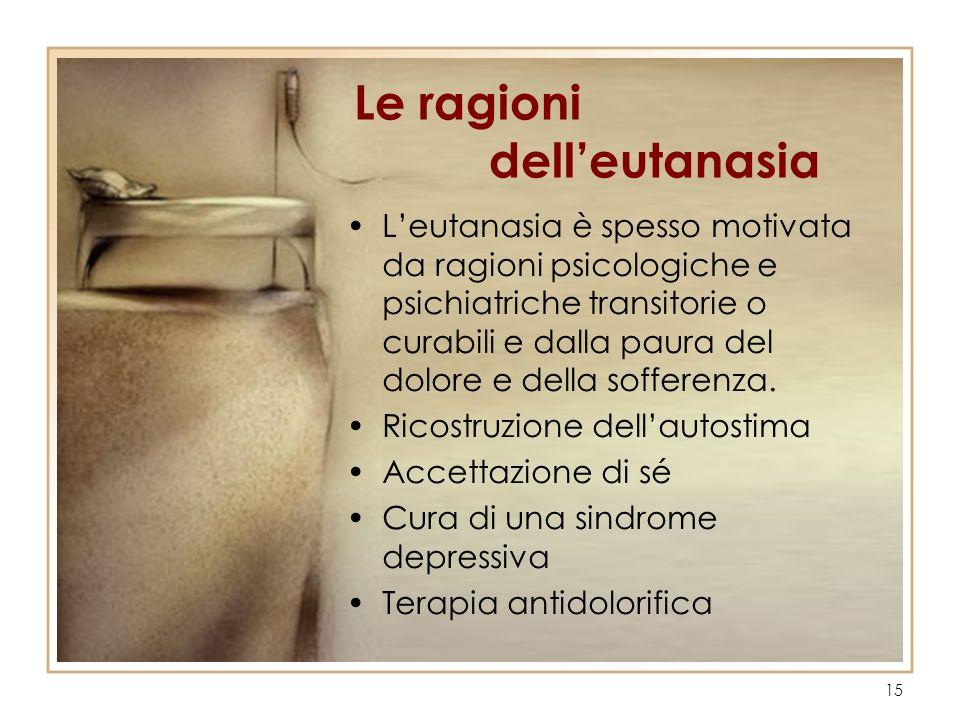 Le ragioni dell'eutanasia