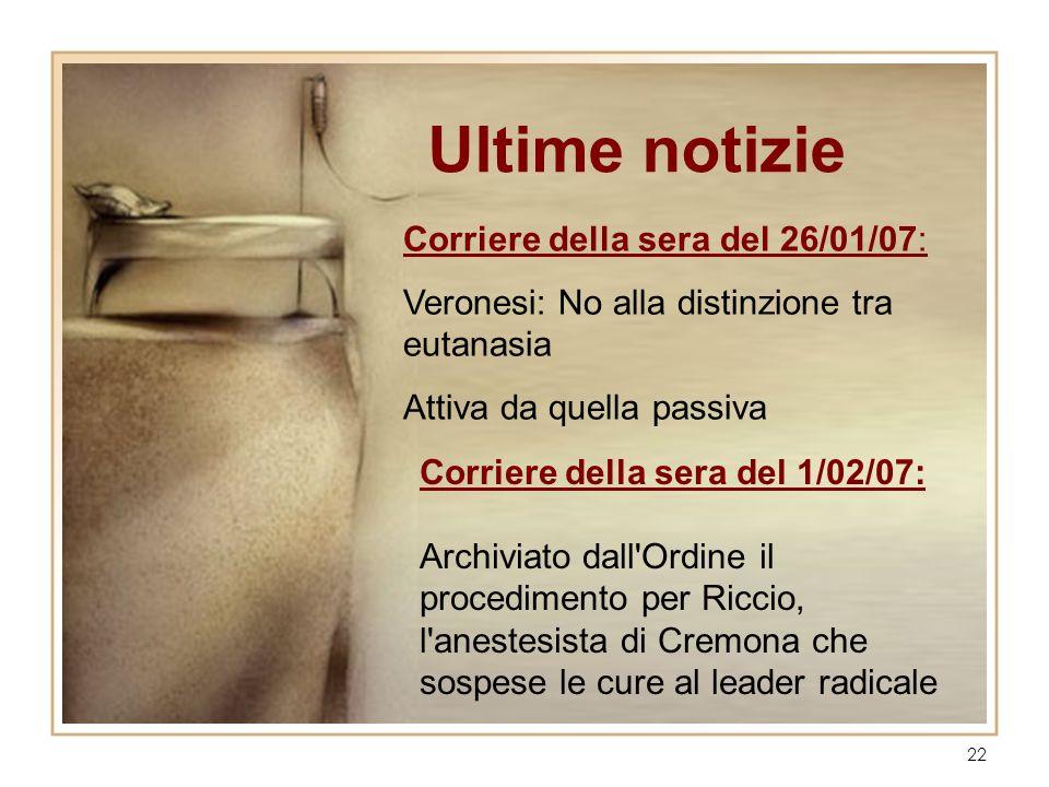 Ultime notizie Corriere della sera del 26/01/07: